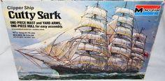 Monogram Cutty Sark Clipper SHIP Model Kit Vintage 1977 | eBay