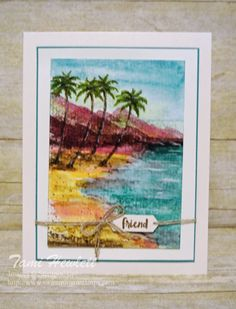 """""""Painting"""" with Waterfront Stamps 