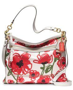 COACH POPPY FLORAL PRINT PERRI HIPPIE - Shoulder Bags - Handbags & Accessories - Macy's not my fav print