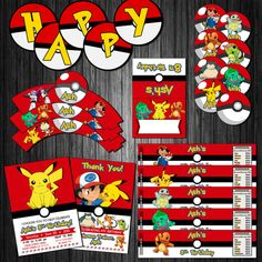Pokemon DIY Printable Birthay Party Decoration Kit by KirovArts