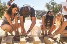 One of my favorite days on The Sustainable Living Tour 2017. Mixing and making cob bricks for a building project at @quail_springs. I love my work so much... : @sister_stone :@sister_stone
