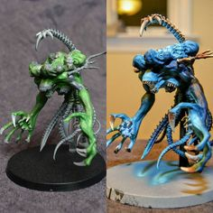 Before/After on the #cronos for #miniaturemonday #warmongers. #greenstuff #sculpting #darkeldar #haemonculuscoven #CovenOfTheUnmarred #warhammer40k #gamesworkshop #gw #hobby #tabletopgaming #wh40k #40k #kitbash #scratchbuild #conversion #warhammer #twitter #modernsynthesist