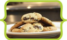 Grain free cookies! INGREDIENTS: Gluten-Free Four Mix (Almond Meal, Organic Flaxseed Meal, White Bean Flour, Organic Coconut Flour, Hazelnut Meal), Dark Chocolate Chips (Sugar, Unsweetened Chocolate, Cocoa Butter, Soy Lecithin [an emulsifier], Vanilla), Cane Sugar, Dark Brown Cane Sugar, Eggs, Unsalted Butter (Cream, Natural Flavorings), Vanilla, Aluminum-Free Baking Soda, Sea Salt.