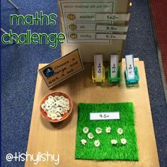 This activity was an adult led the week before. Hoping the children will be able to do this independently. Maths Eyfs, Numeracy Activities, Eyfs Classroom, Year 1 Maths, Early Years Maths, Early Math, Montessori Math, Preschool Math, Kindergarten Math