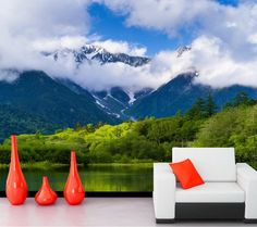 30.00$  Buy now - http://ali07a.shopchina.info/go.php?t=32667457276 - Scenery Mountains Lake Forests Clouds Nature wallpaper,living room tv sofa wall 3d room wallpaper landscape papel de parede 30.00$ #buyonline