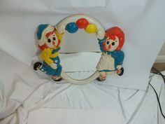 Raggedy Ann and Raggedy Andy Childrens Plastic Mirror Kids Bedroom Furniture