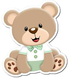 Felt Crafts, Diy And Crafts, Paper Crafts, Baby Shawer, Baby Love, Animal Cutouts, Teddy Bear Party, Paper Dolls Printable, Cute Cartoon Wallpapers