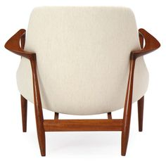 Elizabeth Chairs by Ib Kofod-Larsen   From a unique collection of antique and modern ottomans and poufs at http://www.1stdibs.com/furniture/seating/ottomans-poufs/
