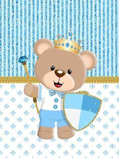Minhas coisinhas festa personalizada: kit ursinho príncipe para imprimir gratis Baby Shawer, Baby Kit, 3rd Baby, Baby Shower Oso, Sprinkle Shower, Baby Shower Invitaciones, Bear Party, Baby Mermaid, 14th Birthday