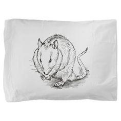 rat sketch Pillow Sham