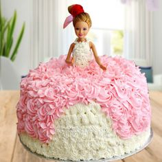 Order Barbie Doll Cake Online for Your Little Daughter Birthday Cakes For Men, Birthday Cupcakes, Birthday Kids, Barbie Doll Birthday Cake, Bolo Barbie, Cake Online, Birthday Cake Decorating, Chocolate Decorations, Girl Cakes