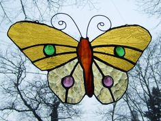FREE SHIPPING EVERYWHERE  Summer butterfly by SaintGlass on Etsy, $45.00