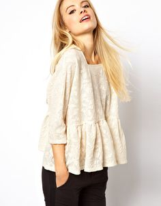 Cute lace trapeze top
