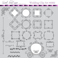 Royal Vintage Wedding Digital Frames Clipart by MSweetboutique, $5.99