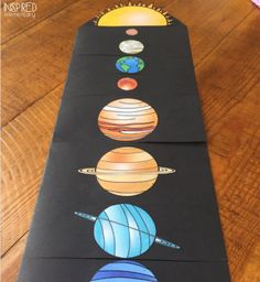 This next week at school is Space Week. I created this planet flip book that is a fun way to introduce the order of the planets from the sun. This activity is simple and effective, all while pullin… Planets Activities, Solar System Activities, Solar System Projects, Space Activities, Earth Science Activities, Science Lessons, Science Projects, School Projects, Life Science