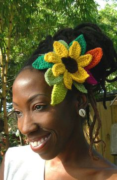 Tropical Sunflower Headband by LotusRootsCreations on Etsy, $28.00
