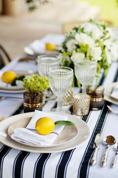 You know the saying: When life deals you lemons, use them for an adorable decorative accents. (That's my version, at least.) And the styling power-team of Angie Silvy Photography , and Myee Events,. St. Lucia, St Lucia Day, Fruit Wedding, Mod Wedding, Wedding Ideas, Elegant Wedding, Wedding Blog, Wedding Reception, Wedding Stuff