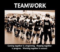Roller Derby - teamwork. Love it.!