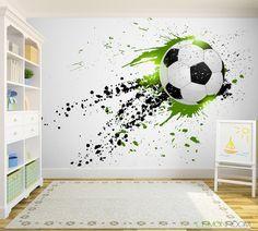 Dla fanów piłki nożnej. #Fototapeta z aranżacji http://bit.ly/Soccer-Ball #Fototapety #football #soccer #dekoracje