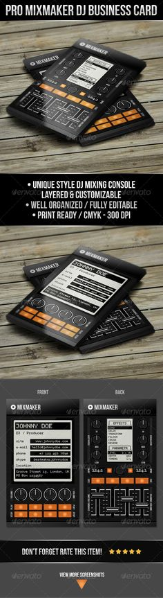 18 Dj Business Cards Free Psd Eps Ai Indesign Word Pdf