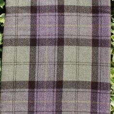 Pure Wool Scottish Plaid Fabric - Bamburgh - per metre #RossTweed