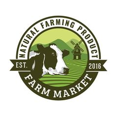 Business Logo - Business Branding - Green - Cow - Emblem Logo - Badge - Eco - Farm Products Logo - O Branding Logo Design, Business Logo Design, Logo Design Template, Logo Design Services, Business Branding, Custom Logo Design, Custom Logos, Business Cards, Cow Logo