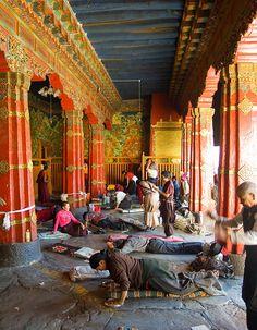 Das Radreng Kloster befindet sich nördlich von Lhasa und stellte das Zentrum der buddhistischen Kadam-Strömung dar.