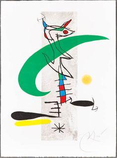 Joan Miró, La Translunaire, Century, Heather James Fine Art Color aquatint and etching on paper Joan Miro Paintings, Picasso Paintings, Art Paintings, Miro Artist, Abstract Expressionism, Abstract Art, Art Walk, Art Abstrait, Art Plastique