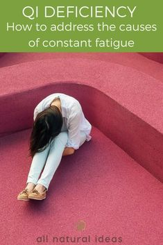 If you're feeling tired and stressed, you may have a qi deficiency. Learn how to correct this lack of energy with herbs and improved diet. #herbs #TCM #qi | allnaturaideas.com Fatigue Causes, Chronic Fatigue Syndrome Diet, Chronic Fatigue Symptoms, Chi Energy, Lack Of Energy, Acupuncture, Acupressure, Spleen Qi Deficiency, Chinese Medicine