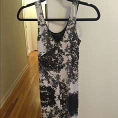 H&M Black and White Dress! Super cute H&M black and white dress. Fits tight and great for going out. Worn once. Size 2. H&M Dresses Mini