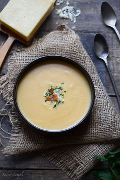Cheesy Potato Soup #recipe - Savory Simple - www.savorysimple.net