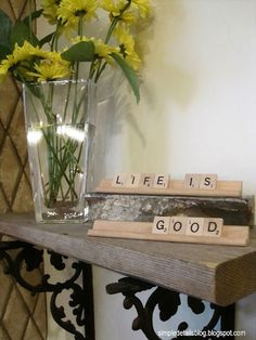 Small shelf for entryway