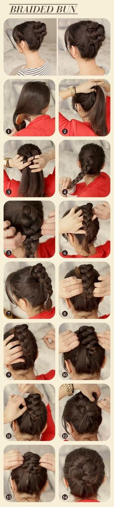 How to do Braided Bun Hairstyle, for underneath my marching band hat:p