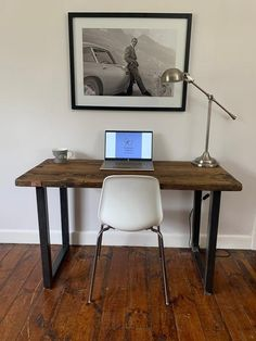 Handcrafted industrial style desk | Etsy
