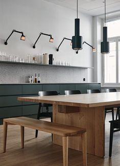 Fjord Helsinki by Joanna Laajisto , Home Decor Kitchen, Home Decor Bedroom, Interior Design Kitchen, New Kitchen, Green Kitchen, Interior Livingroom, Entryway Decor, Kitchen Ideas, Kitchen Countertop Materials