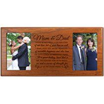 """Parent Wedding Gift ,Wedding Photo Frame,Parent thank you gift,picture frame gift for Bride and Groom, gift for parents, Mom and Dad thank-you gift"""" 16"""" L X 8"""" H by DaySpring Milestones (Cherry)"""