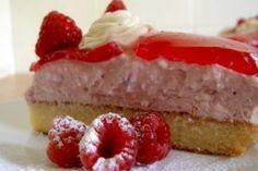 Tort cu zmeura si branza - Culinar.ro 20 Min, Sweet Desserts, Cheesecake, Deserts, Vegetarian, Sweets, Food, Gummi Candy, Cheesecakes