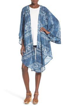 Amuse Society 'Evermore' Print Woven Kimono