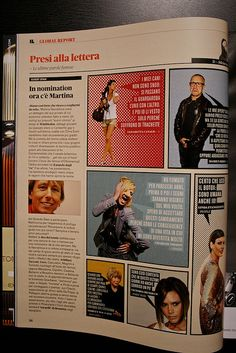 Il Magazine Layout blurbs on the pictures