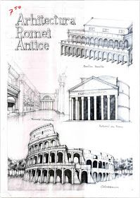 History of Rome by Vlad Bucur Study Architecture, Japanese Architecture, History Of Romania, Building Sketch, Architectural Prints, Famous Buildings, Romanticism, Postmodernism, Rome