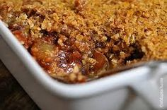 Apple Crisp; everyone loves this and that's a fact. mykitchenoutfit.com/ #winterdesserts