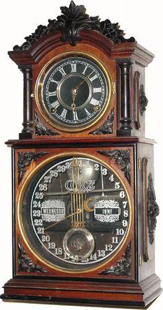 Ithaca Calendar Clock Company Parlor Calendar No. 3 1/2