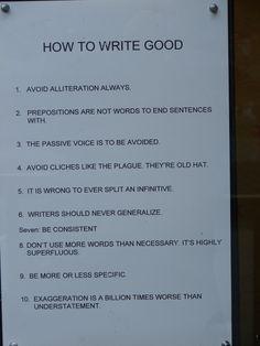 Razones por las que  nunca escribiré bien