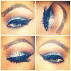 Night on the town!!! I want to know how to do these glitter shadows!!
