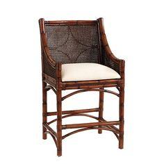"Bella Cane Counter Stool, seat height: 25 1/2"" (Ballard Designs)"