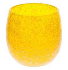 Bubble Taru Glass Yellow (d70 x h80mm) mfr. Ryukyu Glass Craft Taru Glass: Barrel Glass