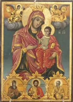 Greek Icons, Queen Of Heaven, Mona Lisa, Spirituality, God, Artwork, Painting, Bedroom, Virgin Mary
