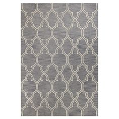 Bring textured appeal to your living room or master suite with this hand-tufted wool rug, showcasing a lovely trellis motif in gray.     ...