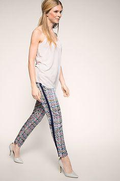 Esprit - Fließende Print-Hose mit Gummizugbund im Online Shop kaufen