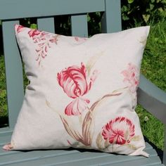 Vintage Floral Linen Cushion - Home Accessories by Lily & Moor. Visit www.lilyandmoor.co.uk for beautiful products and inspiration!